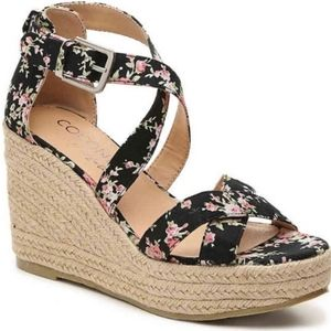 Coconuts by Matisse Black Grace Wedge